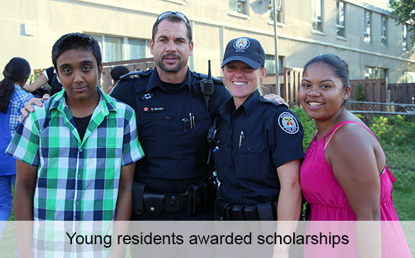 Four young residents awarded scholarships