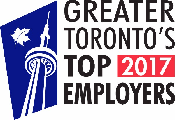 Greater Toronto's Top Employer 2017 logo.
