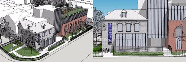 Renderings of the Egale Centre at 257 Dundas St. E.