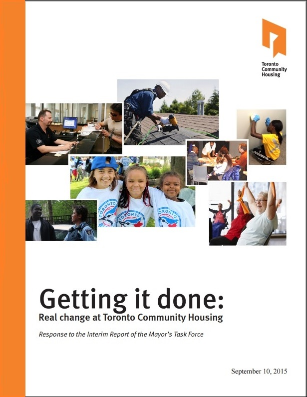 Cover of Getting it done: Real change at Toronto Community Housing.