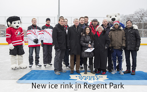 New ice rink in Regent Park