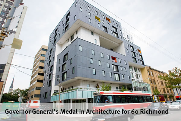 Governor General's Medal in Architecture for 60 Richmond