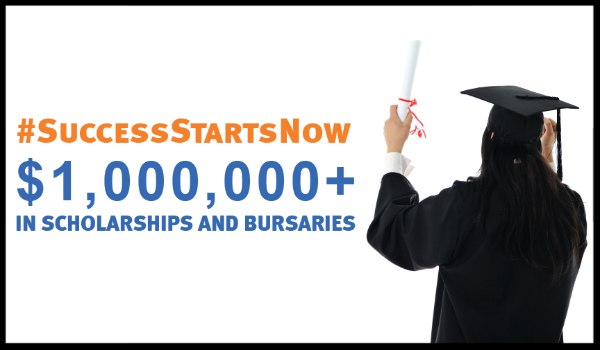 A screenshot from the Success Starts Now: Apply for a scholarship video.
