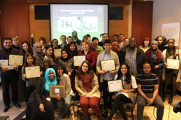 A group photo of the 2016 Toronto Community Housing interns.