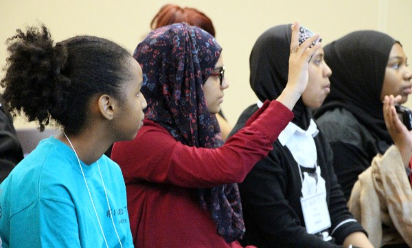 Youth participate in workshops during the If I Ruled T.O. summit.