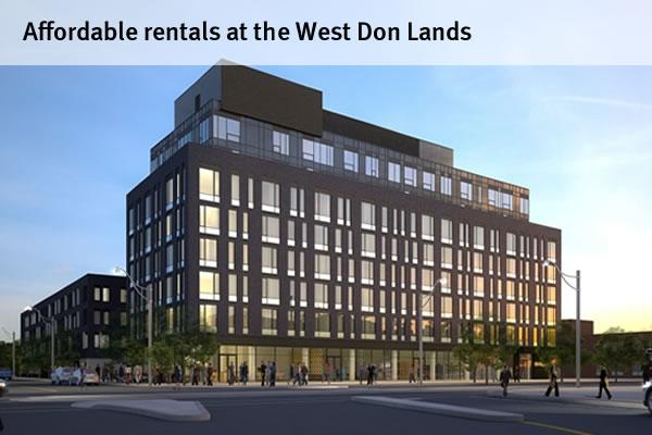 Affordable rentals at the West Don Lands