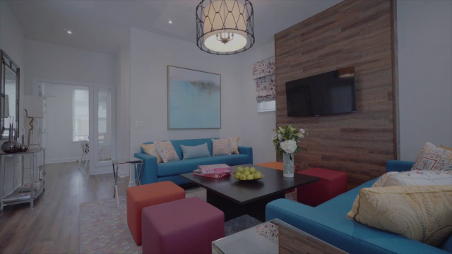 An image of a room in Covenant House's new transitional home, The Rogers Home.