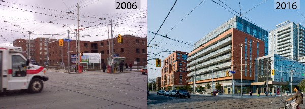 Before-and-after photos of Regent Park.