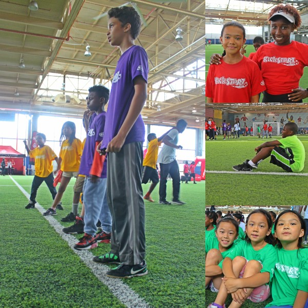 A photo collage showing highlights from the opening day of the fifth season of KickStart.