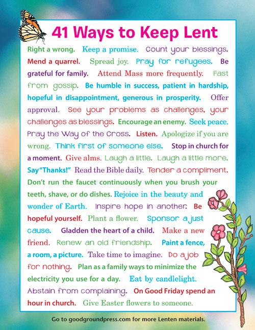 41 Ways to Keep Lent