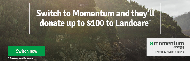 Switch to Momentum and they'll donate up to $100 to Landcare
