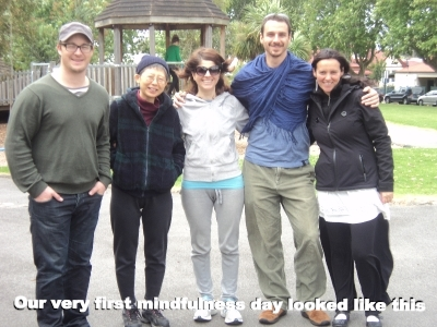 Our very first mindfulness day looked like this