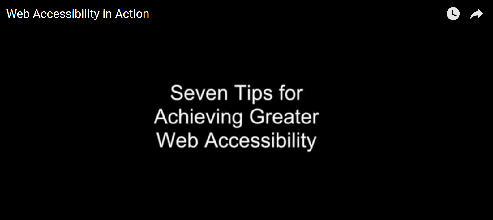 Seven tips for achieving greater web accessibility