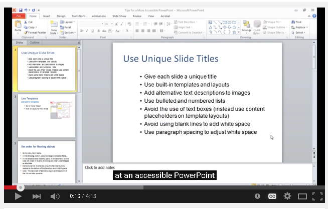link to powerpoint video tutorial