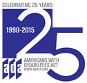 ADA 25 years logo