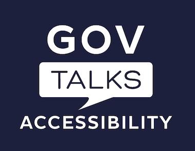 GOV Talks accessibility logo