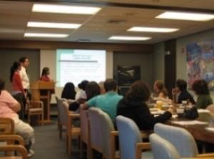 LEND trainees presenting