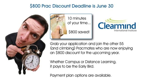 CAD 800 PRAC discount deadline is June 30