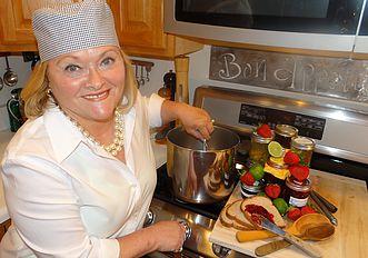 Marguerite making jam
