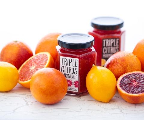 jars of Triple Citrus Marmalade