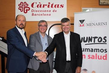 Menarini y Cáritas Diocesana de Barcelona firman un convenio de colaboración para dos proyectos de integración social