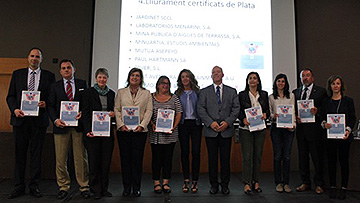 Menarini recibe el certificado de plata por superar los 10 años de adhesión al sistema de mejora medioambiental EMAS