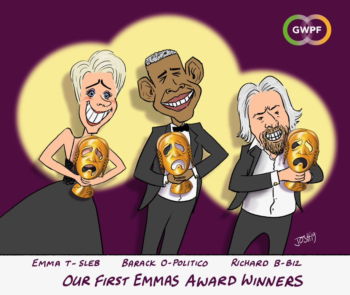 And the winner is…2019's World's Greatest Green Hypocrite Awards go to…Emma Thompson, Barack Obama & Richard Branson!