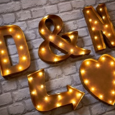 Rust Effect Led Wall Letters