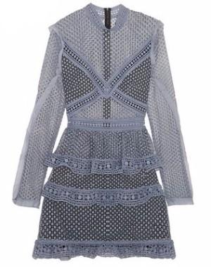 gray lace dresses selfportrait