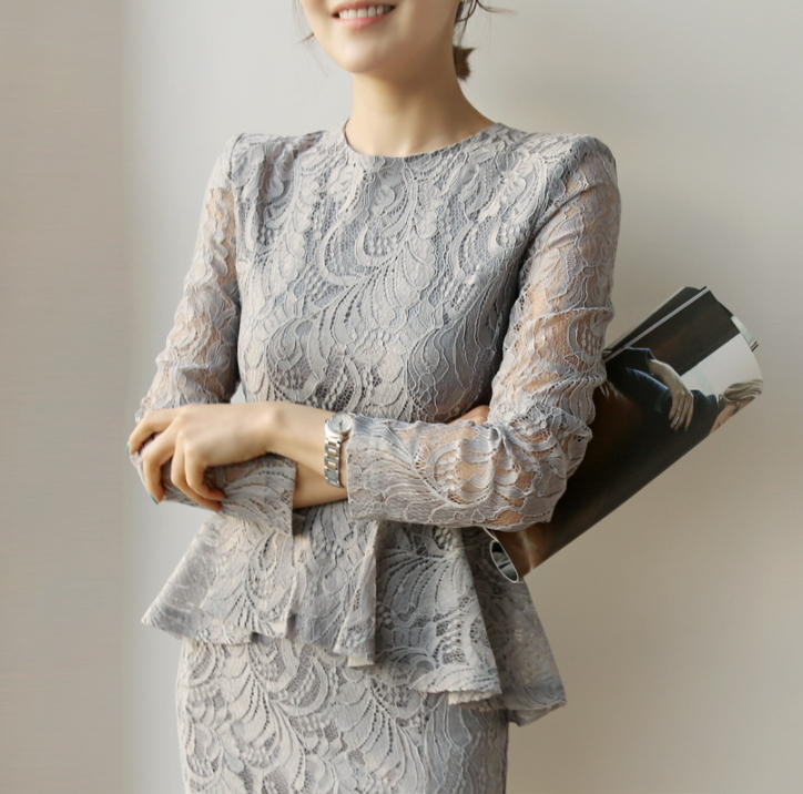 gray lace dress img