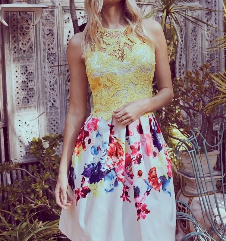 flower pattern office dress img