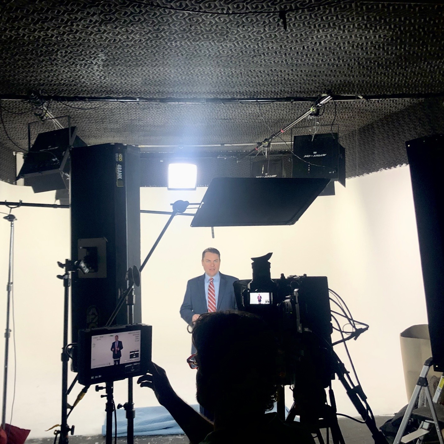 Turn on images to see Carl filming our new ad