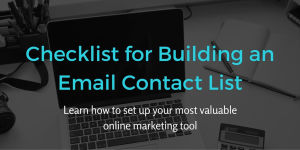 Checklist for Building an Email Contact List