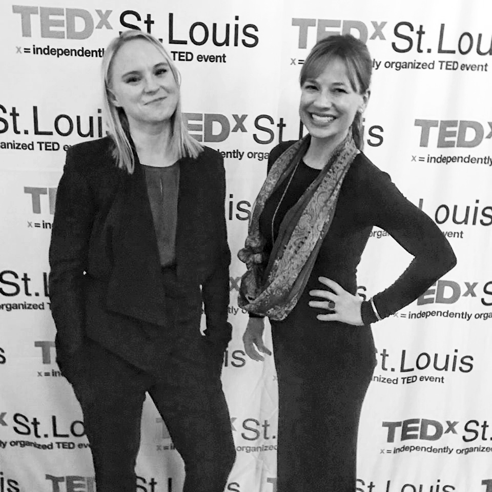 Photo of Chelsea Roff and Meridith Mays at TEDx St Louis Women