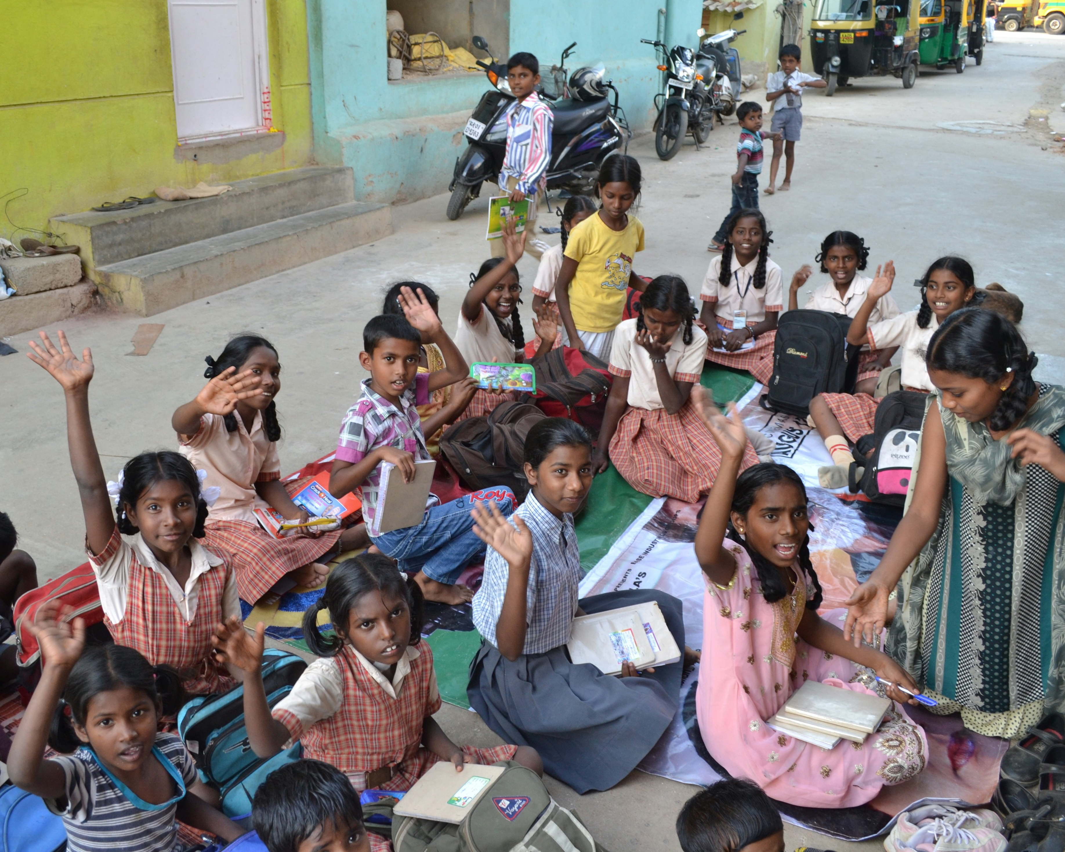 1.Schoolgirls participating in GCI's Assisted Learning programme