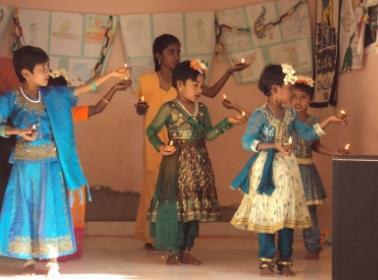 Image of children dancing