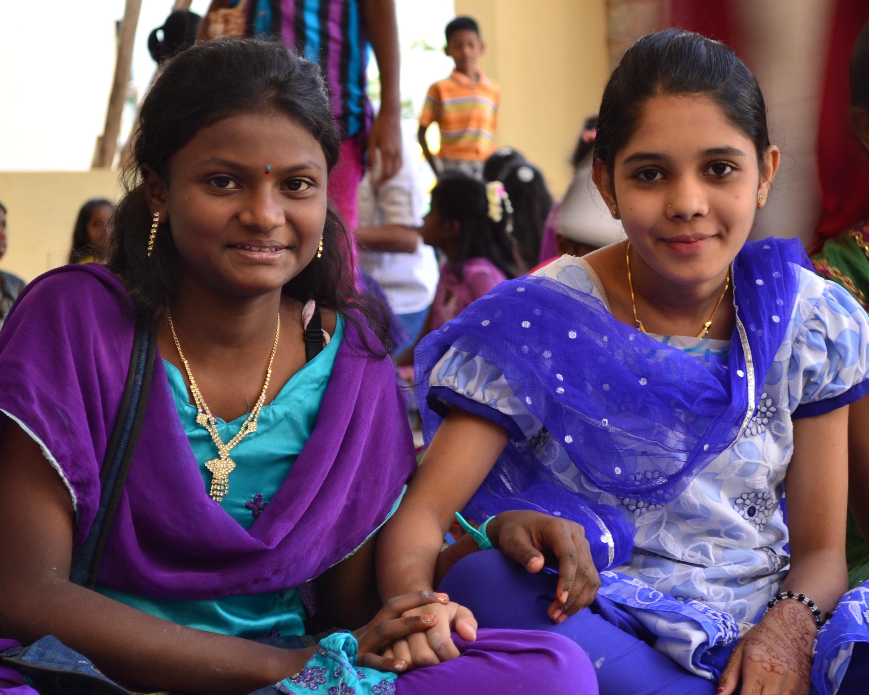 Children's Creativity programme in the slum were invited to participate in science experiments