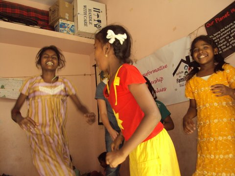Dancing at the Children's Creativity Centre