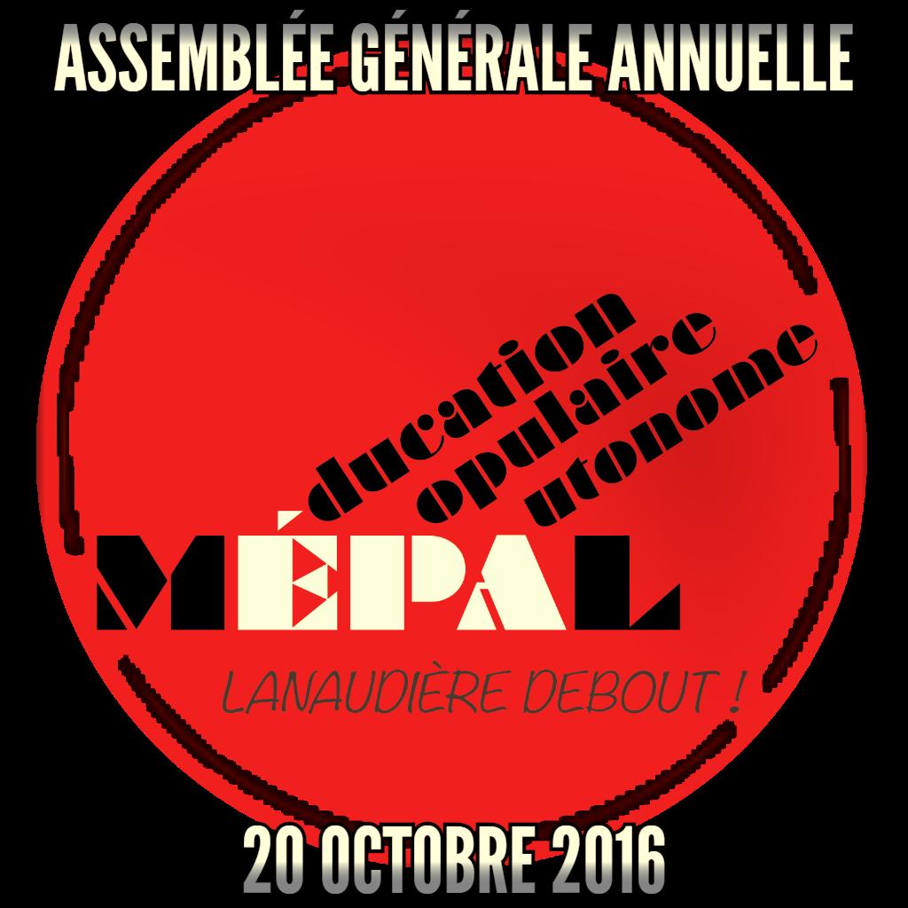 Assemblée générale annuelle (AGA) le 20 octobre 2016