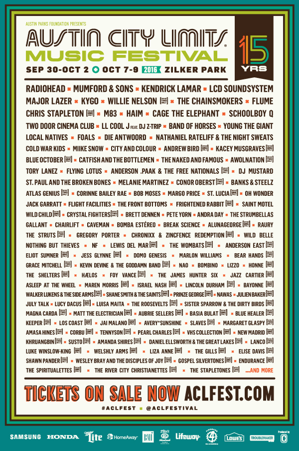 The 2016 Lineup Is Here!