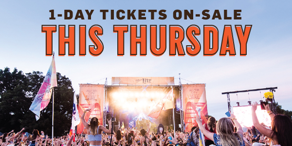 1-Day Tickets On Sale This Thursday