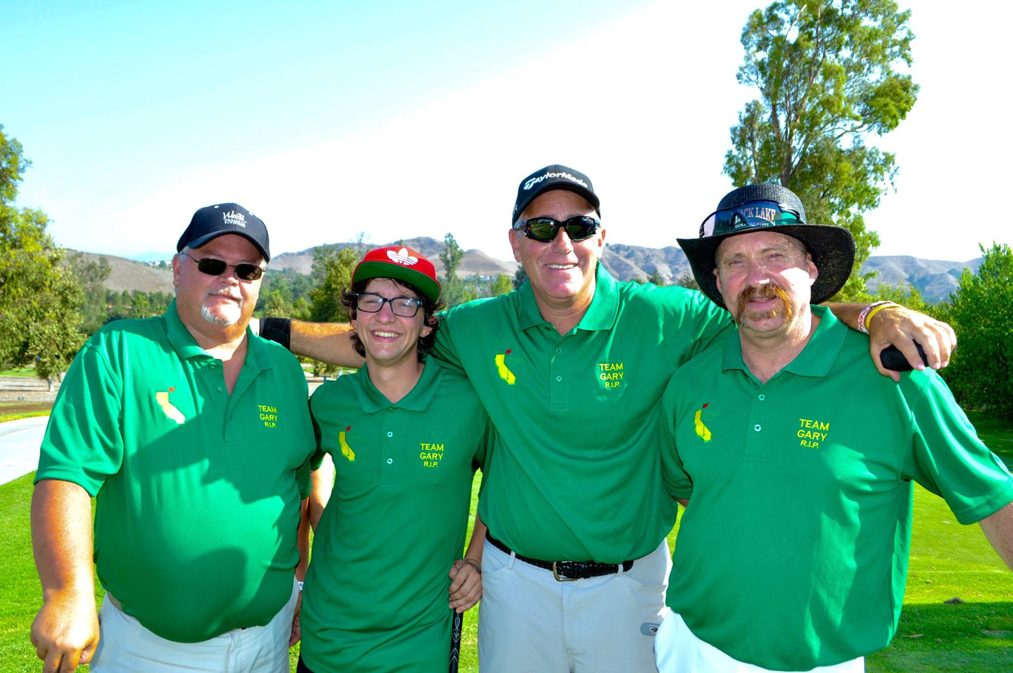 John Gaynor, Scott Britton, John Gaynor, Danny Sampson, Southern California Charity Golf Classic, Team Gary RIP