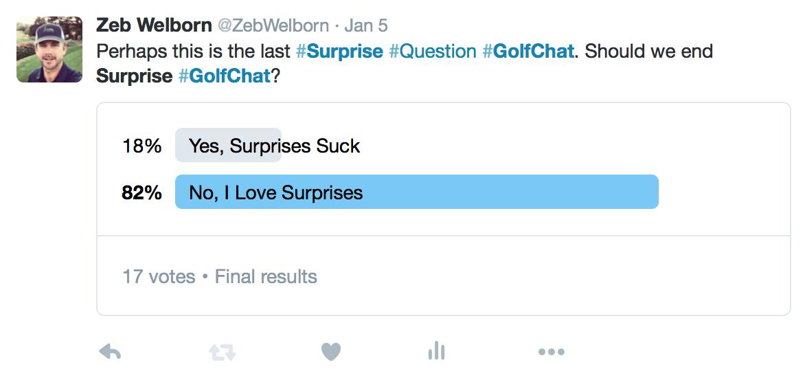 Surprise #GolfChat Zeb Welborn