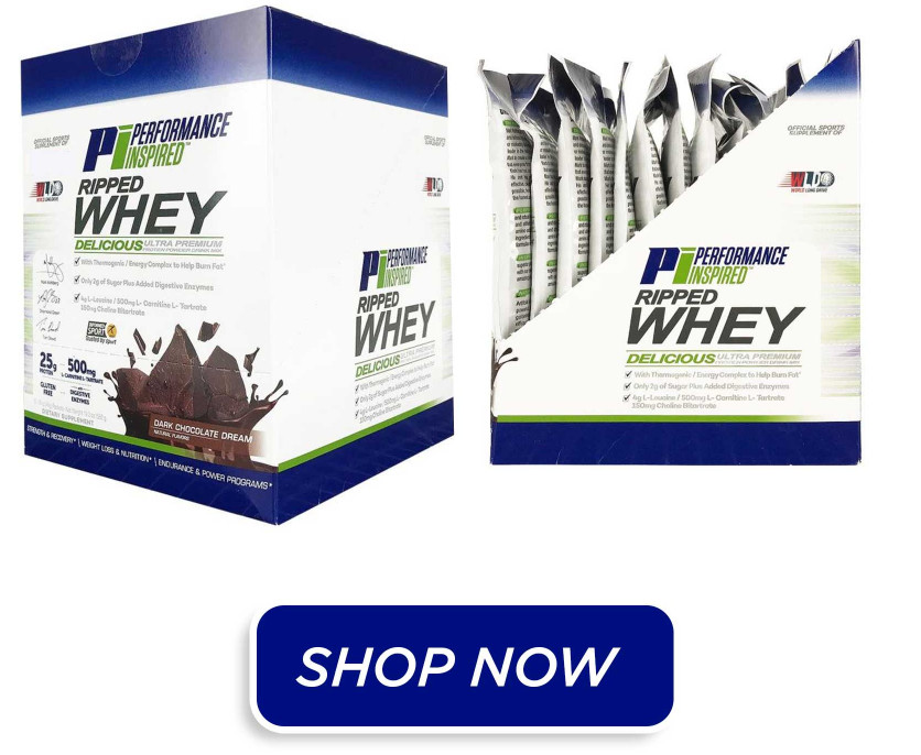 ripped whey protein powder single servings
