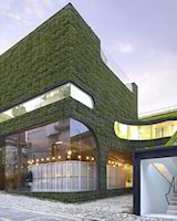 Literally green building symbolising the green building concept