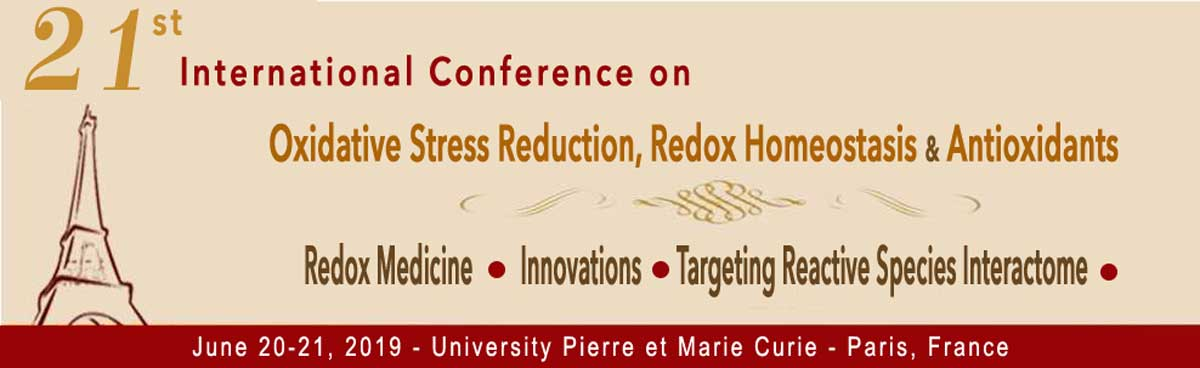 21st International Congress - Paris Redox 2019 | Updated Agenda | Early bird registration