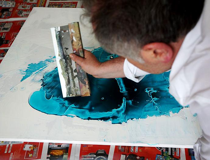 Fintan Whelan at work