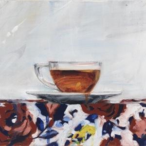 Clear Glass Teacup