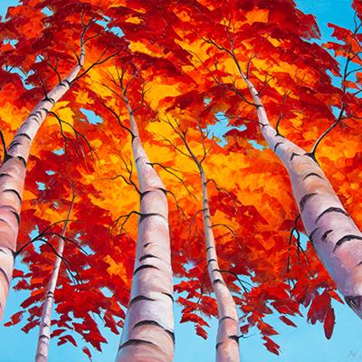 Celestial birches by Aleksey Vylusk