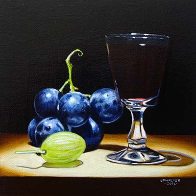 Grapes and wine by Jean-Pierre Walter